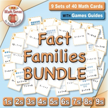 Multi-Match Game Cards BUNDLE: Fact Families for Addition