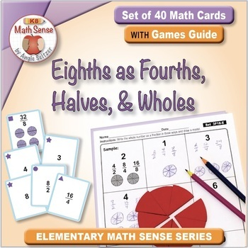Multi-Match Game Cards 3F: Equal Fractions: Eighths as Fou