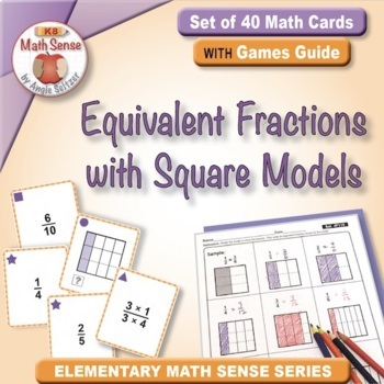 Multi-Match Game Cards 4F: Equivalent Fractions with Squar