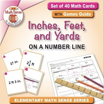 Multi-Match Game Cards 4M: Inches, Feet, and Yards on a Nu