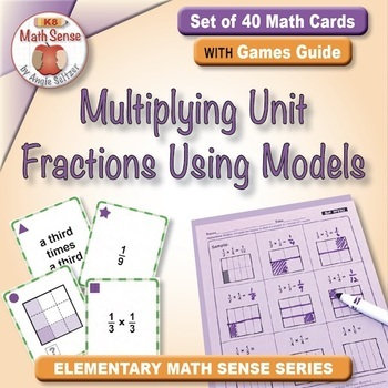 Multi-Match Game Cards 5F: Multiplying Unit Fractions Usin