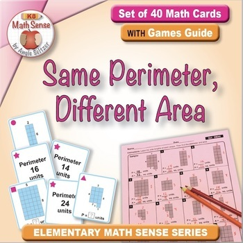 Multi-Match Game Cards 3M: Same Perimeter, Different Area