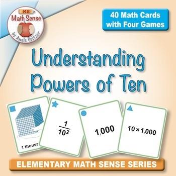 Multi-Match Game Cards 5B: Understanding Powers of Ten