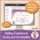 Multi-Match Game Cards 4F: Adding Fractions in Tenths and