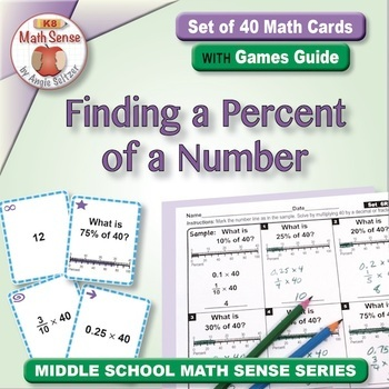 Multi-Match Game Cards 6R: Finding a Percent of a Number