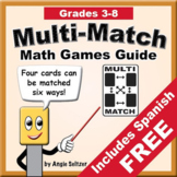 Multi-Match Math Games Guide with Create-A-Game Templates
