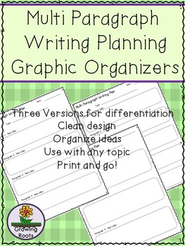 Multi Paragraph Graphic Organizer