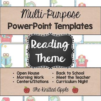 Reading Theme PowerPoint Templates