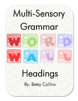 Multi-Sensory Grammar Word Wall Headings