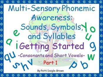 Multi-Sensory Phonemic Awareness - Getting Started & W/CCSS
