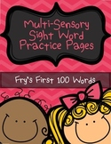 Sight Word Practice Pages - Fry's First 100 Words - Word Work