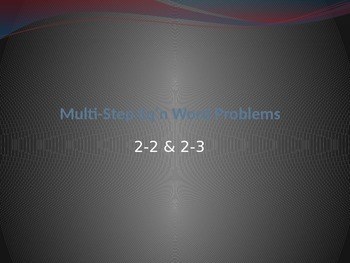 Multi-Step Equation Word Problems