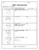 Solving Equations:  Multi-Step Equations (Bundle)