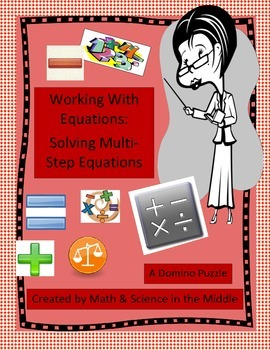 Equations: Multi-Step Equations Domino Puzzle