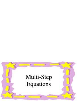 Multi-Step Equations Foldable
