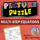 Multi-Step Equations Picture Puzzle
