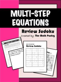 Multi-Step Equations - Review Sudoku