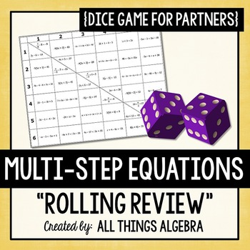 Multi-Step Equations Dice Game