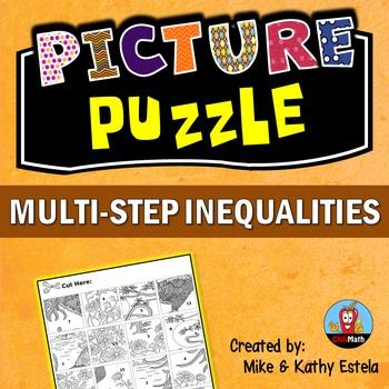 Multi-Step Inequalities Picture Puzzle