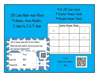 Multi-Step Multiplication Word Problems & 2 by 3 digit Mul