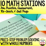 Multi-Step Problem Solving with Whole Numbers Test Prep Ma