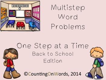 Multi-Step Story Problems: Back to School Freebie