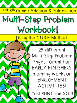 Multi Step Word Problem Book Addition & Subtraction CUBE m