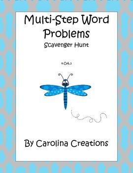 Multi Step Word Problem Scavenger Hunt 4.OA.A.3 Fourth Gra