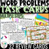 Multiple Step Word Problem Task Cards