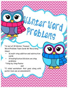 Multi Step Word Problems: Winter Word Problems