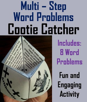Multi-Step Word Problems Game (Practice Activity) for 3rd