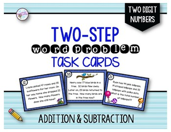 Mixed Math Two-Step Word Problems: Addition and Subtraction