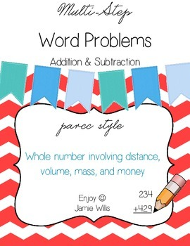 Multi-Step Word Problems Pack: Whole Number Addition & Sub
