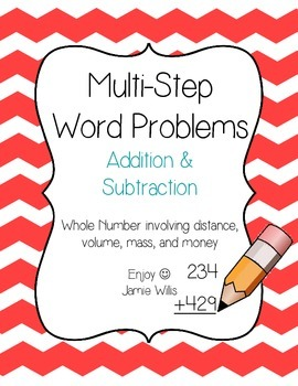 Multi-Step Word Problems Pack: Whole Number Addition and S