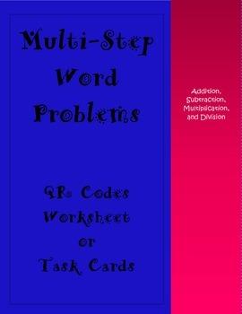 Multi Step Word Problems QR Codes
