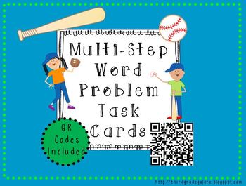 Multi-Step Word Problems with QR Codes