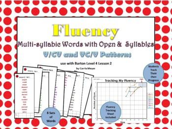 Multi-Syllable Word Fluency: Level 4 Lesson 2 FREEBIE