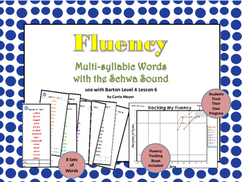 Multi-Syllable Word Fluency:Level 4 Lesson 6 Words with Schwa