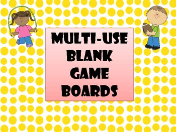 Multi-Use Blank Game Boards