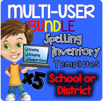 SCHOOL License (5 users) BUNDLE Automatic Spelling Invento