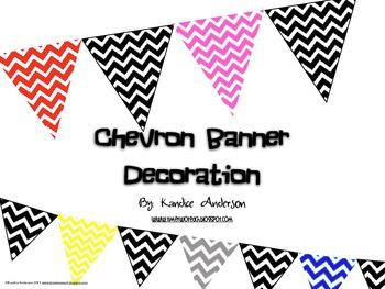 Multi-color Triangle Chevron Banner Decoration