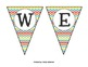 Multi-colored Chevron Welcome Banner