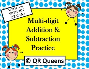 Addition/Subtraction Multi-digit Practice Task Cards with