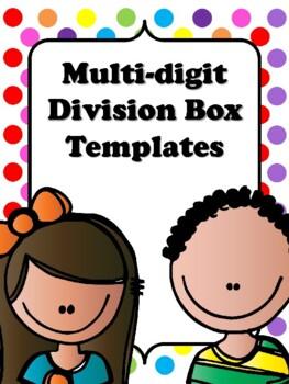 FREEBIE Multi-digit Division Box Templates