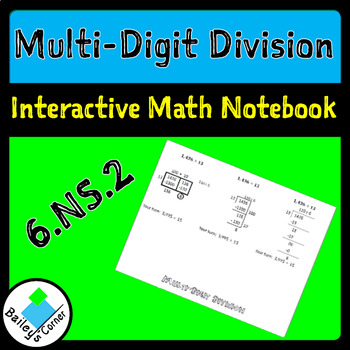 Multi-digit Division for Interactive Math Notebook