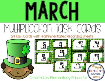 Two Digit Multiplication: March theme