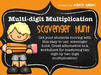 Multi-digit Multiplication Scavenger Hunt Activity