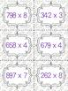 Multi-digit Multiplication Task Cards by Single Digit