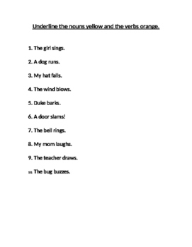 Multi-sensory Grammar Nouns and Verbs