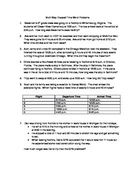 Time Worksheets » Elapsed Time Worksheets Word Problems ...